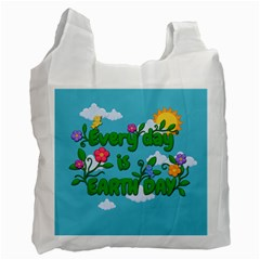 Earth Day Recycle Bag (two Side)
