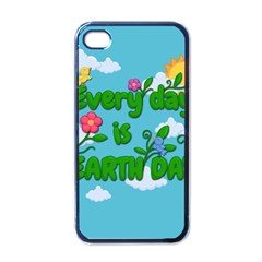 Earth Day Apple Iphone 4 Case (black)