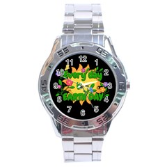 Earth Day Stainless Steel Analogue Watch