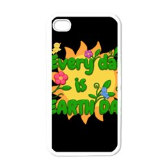 Earth Day Apple Iphone 4 Case (white)