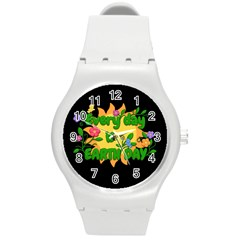 Earth Day Round Plastic Sport Watch (m)