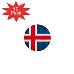 Iceland Flag 1  Mini Buttons (10 Pack)