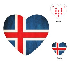 Iceland Flag Playing Cards (heart)