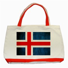Iceland Flag Classic Tote Bag (red)