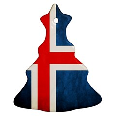 Iceland Flag Christmas Tree Ornament (two Sides)