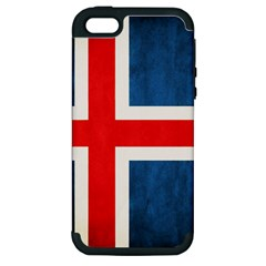 Iceland Flag Apple Iphone 5 Hardshell Case (pc+silicone)