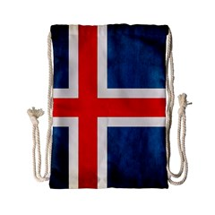 Iceland Flag Drawstring Bag (small)
