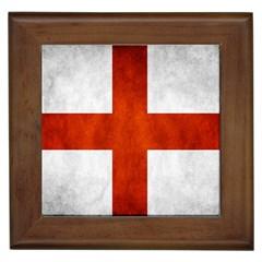 England Flag Framed Tiles