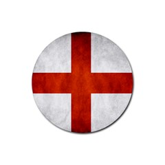 England Flag Rubber Round Coaster (4 Pack)
