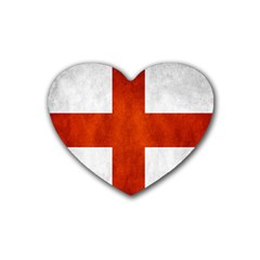England Flag Heart Coaster (4 Pack)