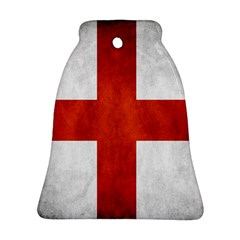 England Flag Bell Ornament (two Sides)