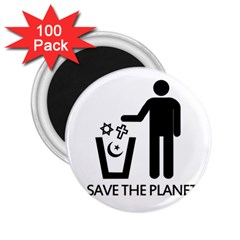 Save The Planet   Religions  2 25  Magnets (100 Pack)