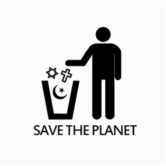 Save The Planet   Religions  Canvas 16  X 16