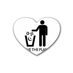 Save The Planet   Religions  Rubber Coaster (heart)