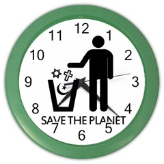 Save The Planet   Religions  Color Wall Clocks