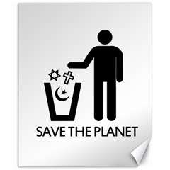 Save The Planet   Religions  Canvas 11  X 14
