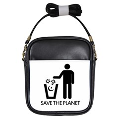 Save The Planet   Religions  Girls Sling Bags