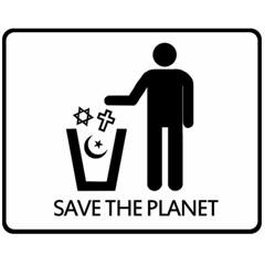 Save The Planet   Religions  Fleece Blanket (medium)