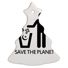 Save The Planet   Religions  Ornament (christmas Tree)