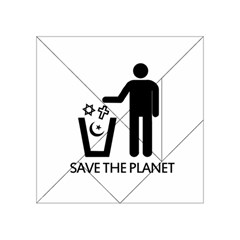 Save The Planet   Religions  Acrylic Tangram Puzzle (4  X 4 )