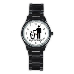 Save The Planet   Religions  Stainless Steel Round Watch