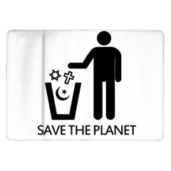 Save The Planet   Religions  Samsung Galaxy Tab 10 1  P7500 Flip Case