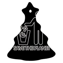Save The Planet   Religions  Christmas Tree Ornament (two Sides)