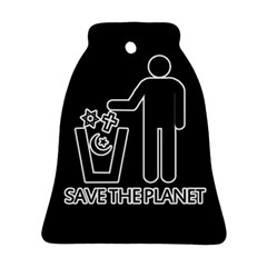 Save The Planet   Religions  Bell Ornament (two Sides)