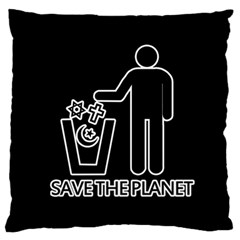 Save The Planet   Religions  Standard Flano Cushion Case (one Side)