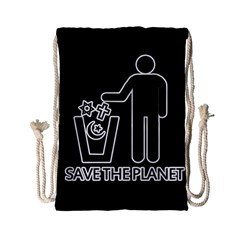 Save The Planet   Religions  Drawstring Bag (small)