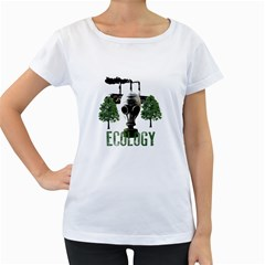 Ecology Women s Loose Fit T Shirt (white)