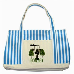 Ecology Striped Blue Tote Bag