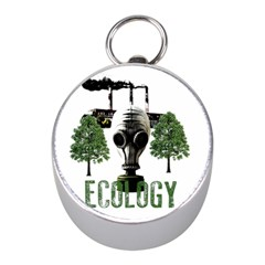 Ecology Mini Silver Compasses