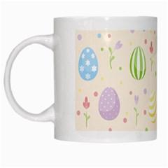 Easter Pattern White Mugs