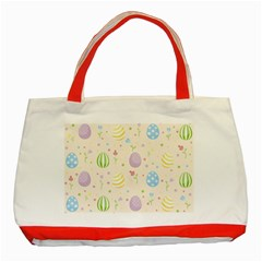 Easter Pattern Classic Tote Bag (red)