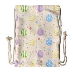 Easter Pattern Drawstring Bag (large)