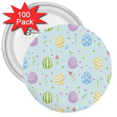 Easter Pattern 3  Buttons (100 Pack)