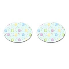 Easter Pattern Cufflinks (oval)