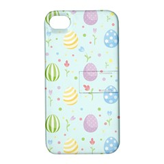 Easter Pattern Apple Iphone 4/4s Hardshell Case With Stand