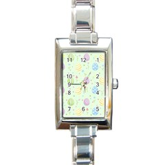 Easter Pattern Rectangle Italian Charm Watch