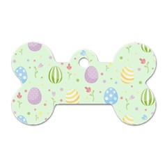 Easter Pattern Dog Tag Bone (two Sides)