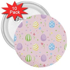 Easter Pattern 3  Buttons (10 Pack)