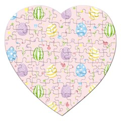 Easter Pattern Jigsaw Puzzle (heart)