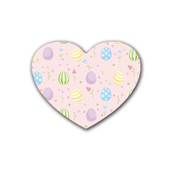 Easter Pattern Heart Coaster (4 Pack)
