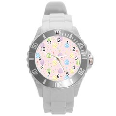 Easter Pattern Round Plastic Sport Watch (l)