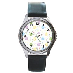 Easter Pattern Round Metal Watch