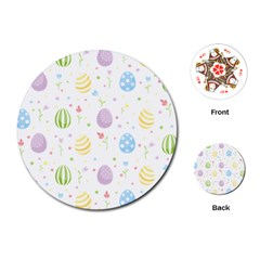 Easter Pattern Playing Cards (round)