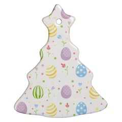 Easter Pattern Christmas Tree Ornament (two Sides)