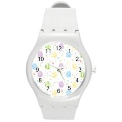 Easter Pattern Round Plastic Sport Watch (m)