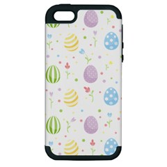 Easter Pattern Apple Iphone 5 Hardshell Case (pc+silicone)